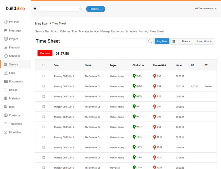 Timesheet  Software for Commercial Contractors